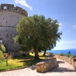 City walls. Castro. Puglia. Italy.